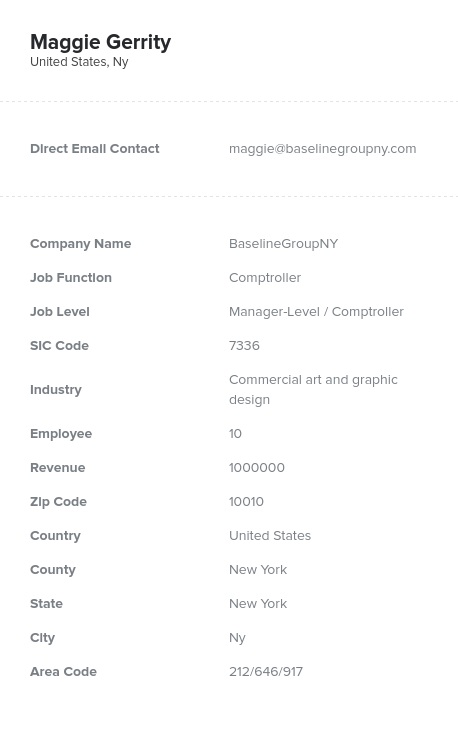 Sample of Comptrollers Email List.