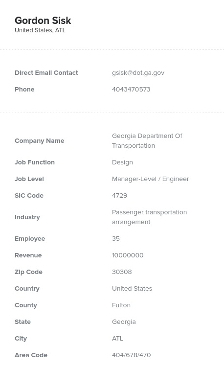 Sample of Design Directors, Managers Email List.