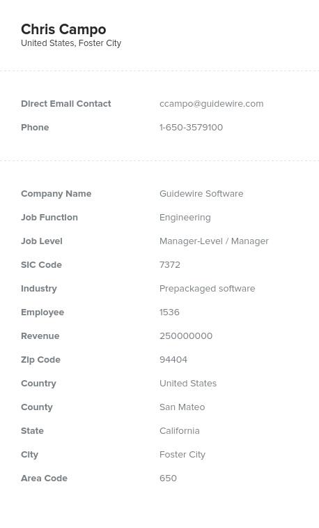 Sample of Engineering Email List.