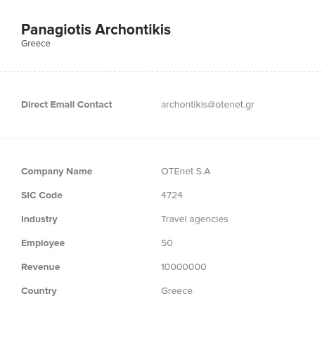 Sample of Greece Email List.