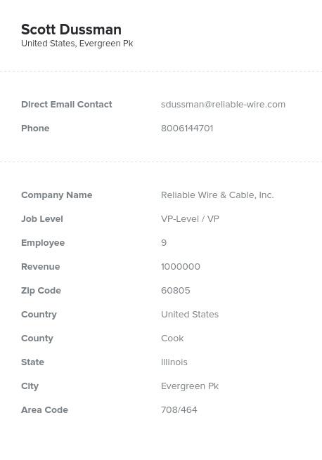 Sample of Illinois Email List.