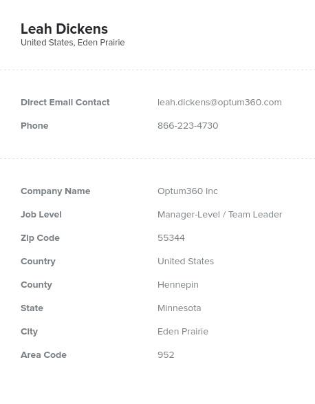 Sample of Minnesota Email List.