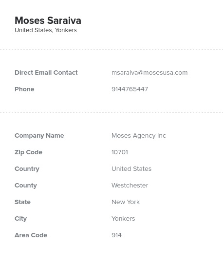 Sample of New York Realtors, Real Estate Agents Email List.