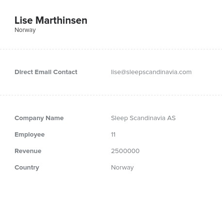 Sample of Norway Email List.