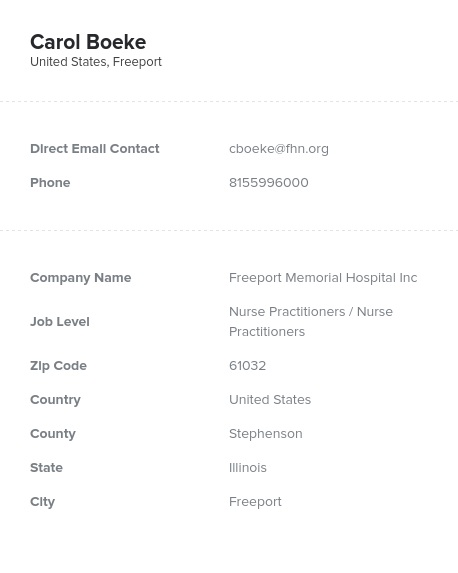 Sample of Nurse Practitioners in the USEmail List.