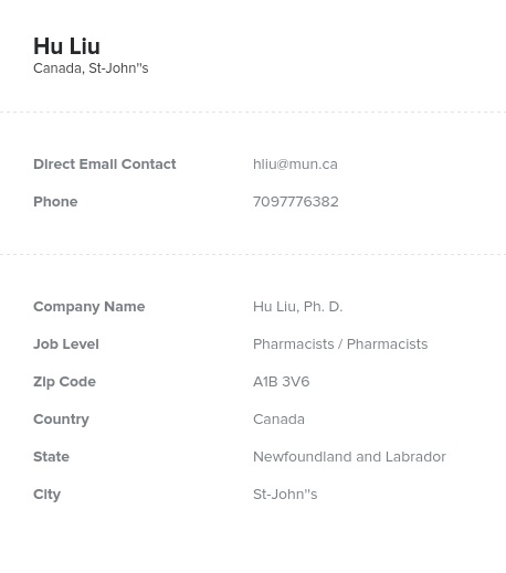 Sample of Pharmacists in CanadaEmail List.