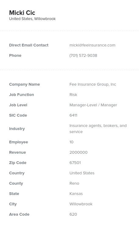 Sample of Risk Email List.