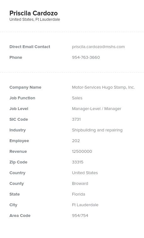 Sample of Shipbuilding Boatbuilding Email List.